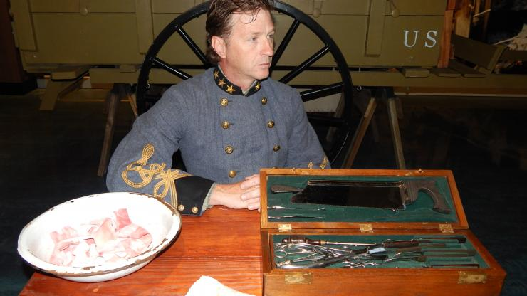 Civil War medical reenactor