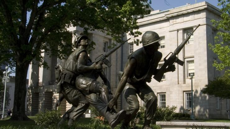 The Vietnam Veterans Memorial on the grounds of the N.C. State Capitol
