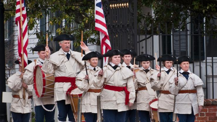 Fife and drum corps at Tryon Palace.