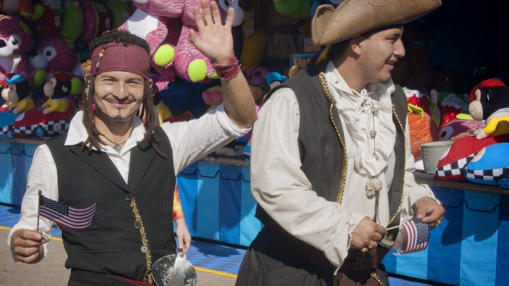 Pirate reenactors join the parade at the 2016 N.C. State Fair.