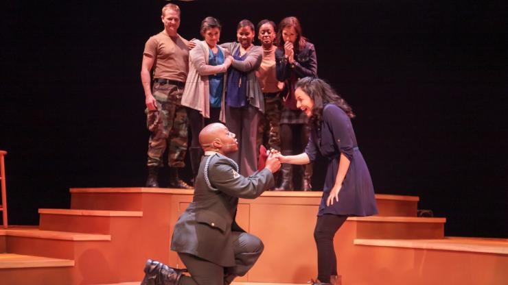 The Cape Fear Regional Theatre presents Downrange: Voices From the Homefront by N.C. playwright Mike Wiley at Fort Bragg.