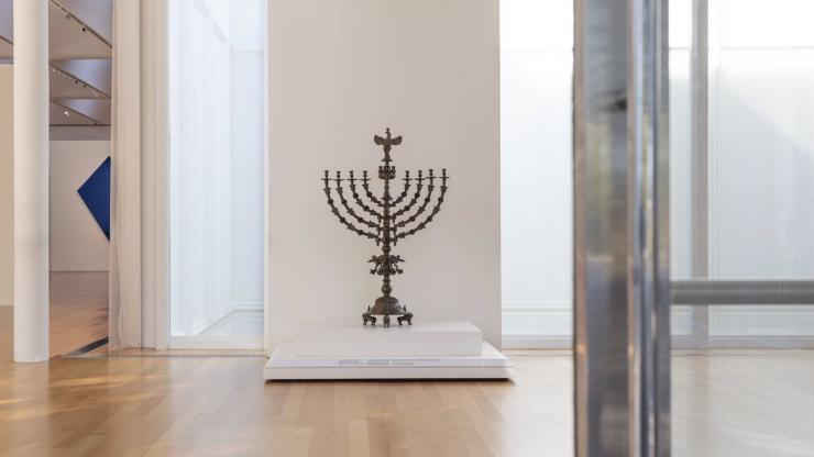 Standing Hanukkah Lamp in the Judaic Collection of the North Carolina Museum of Art