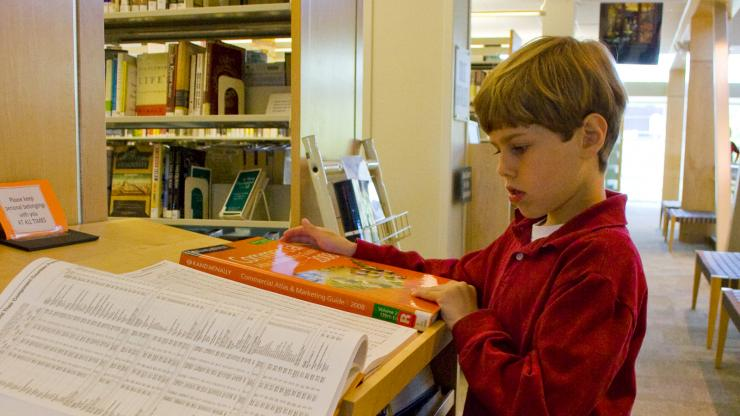 Child at Government and Heritage Library