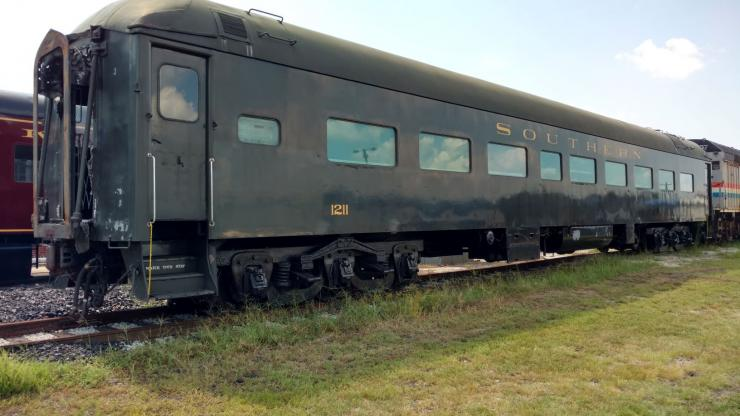"""""""Jim Crow car"""" at N.C. Transportation Museum"""