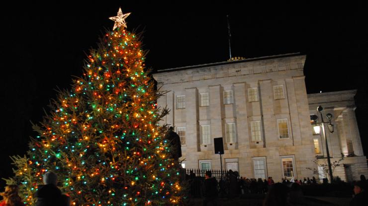Christmas tree at State Capitol