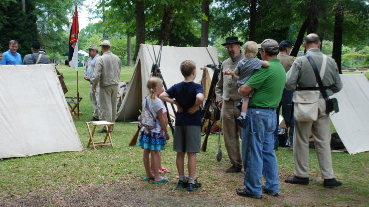 A Civil War Camp at the Museum of the Cape Fear in Fayetteville