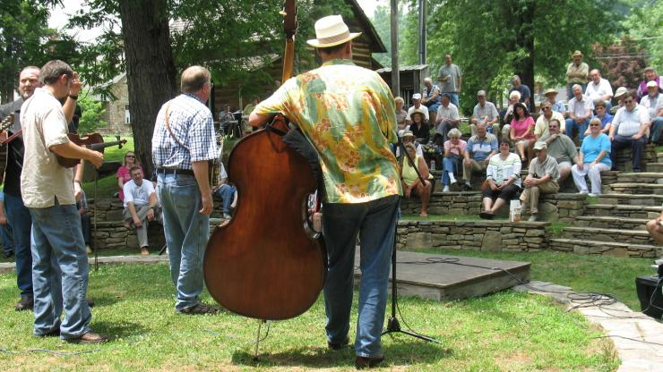 Enjoying Outdoor Music at the Mountain Gateway Museum in Old Fort