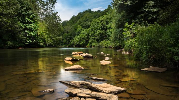 New River in northwest North Carolina