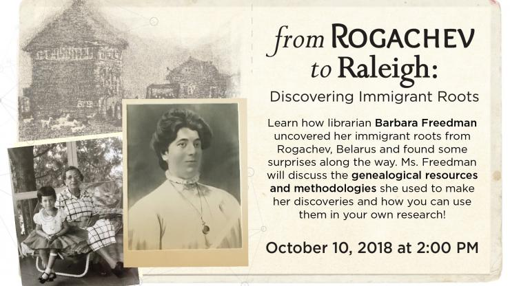 """From Rogachev to Raleigh: Discovering Immigrant Roots,"""