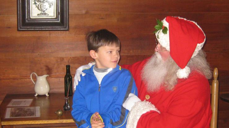 Kids can talk with Santa at Bennett Place Dec.16
