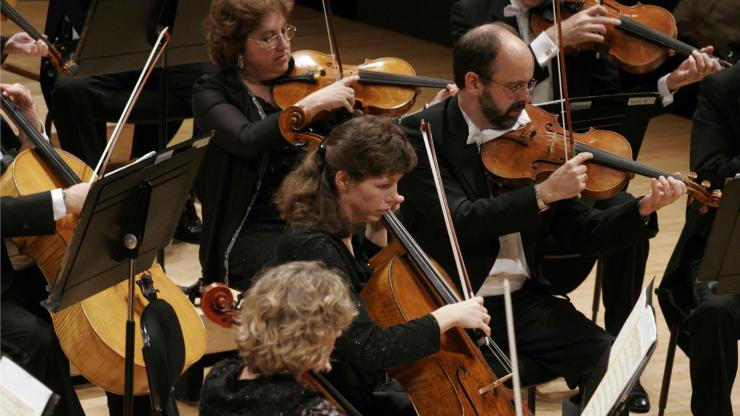 String Musicians with the North Carolina Symphony