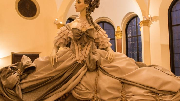 One of of four costumes inspired by French paintings