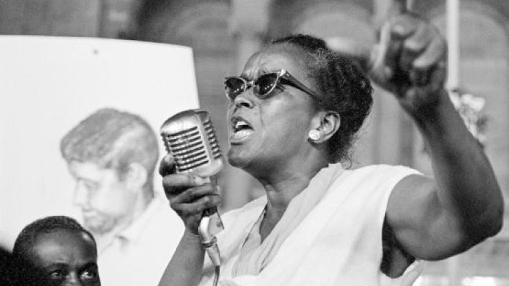 Civil Rights activist Ella Baker.