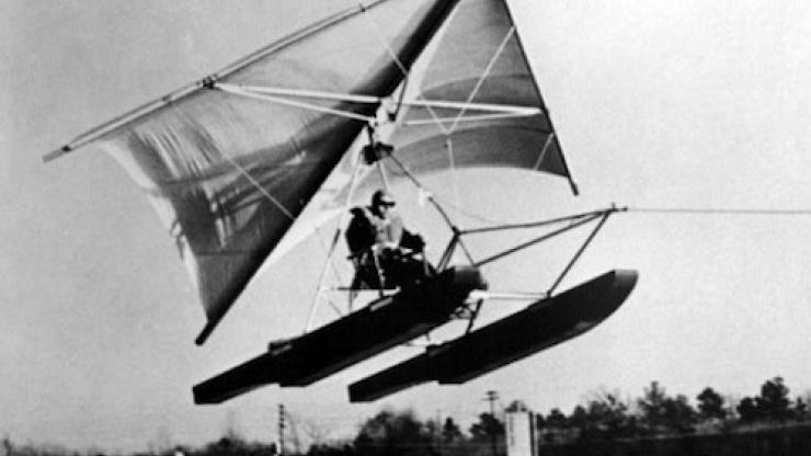 Hang Glider Adapted for Water Use, 1962 | NC DNCR