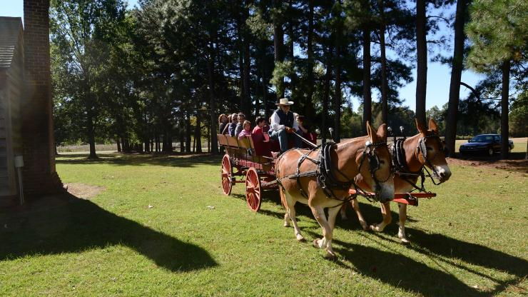 Wagon rides and fall fun are featured at the Bentonville Fall Festival