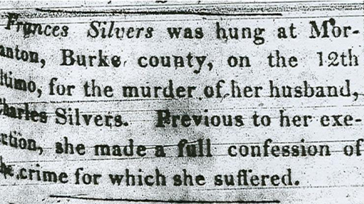 A Newspaper Announcing Silver's Death