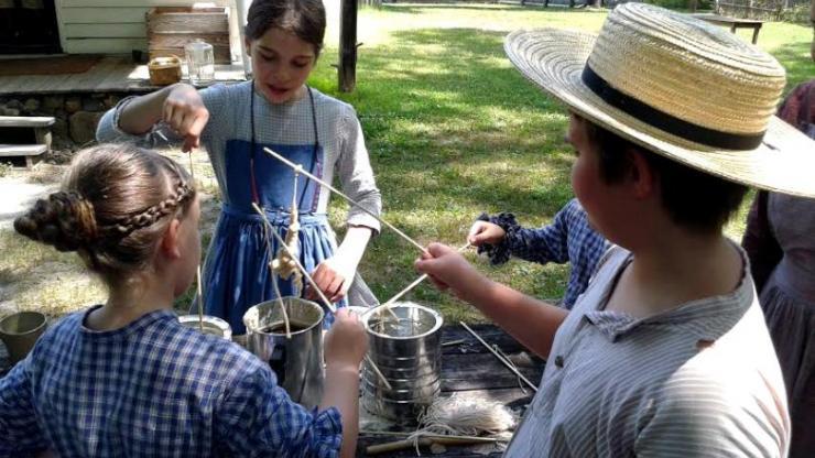 Volunteers help interpret the history of Duke Homestead State Historic Site