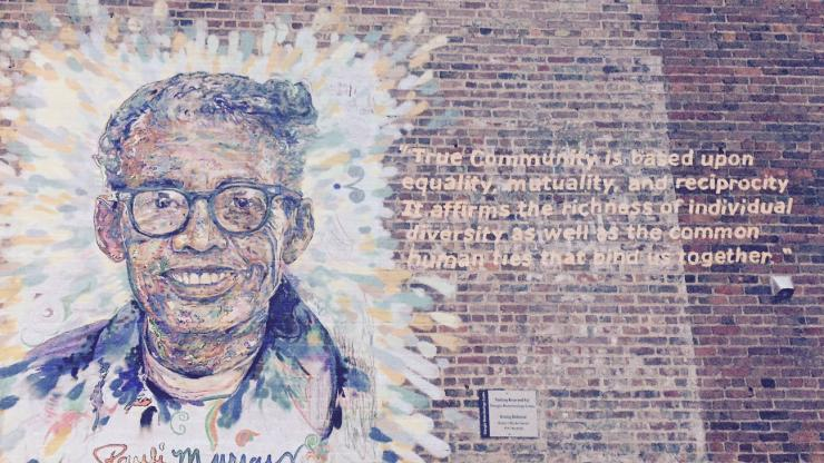 Pauli Murray mural in Durham