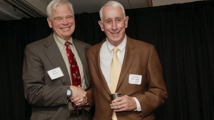 D. G. Marin Award presents Julian Pleasants with the 2015 Reagan Award