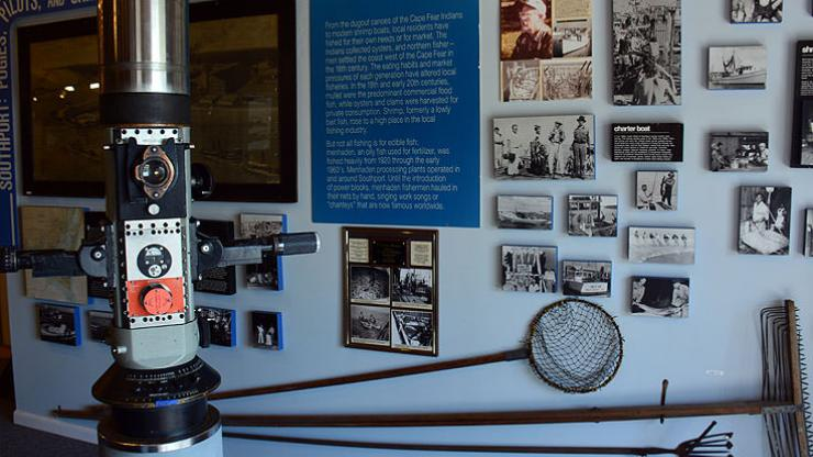 Exhibits at the N.C. Maritime Museum in Southport include information on Bonnet's life