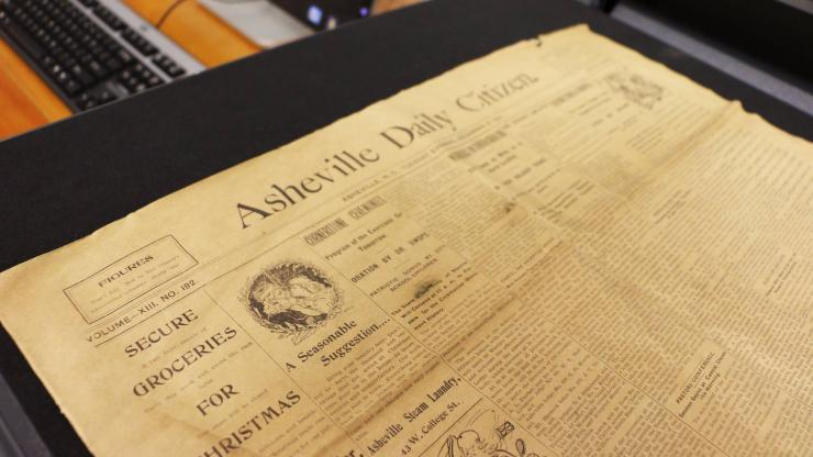 An issue of the Asheville Daily Citizen from the late 1800s