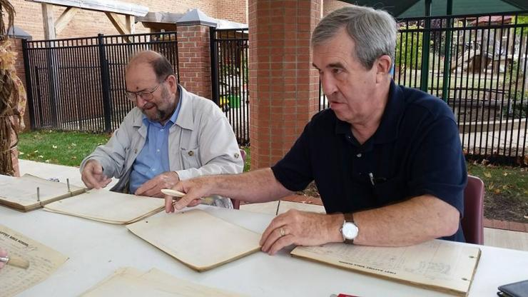 Members of an Asheville church receive training on conserving old records