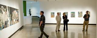 Browsing a Gallery at SECCA in Winston-Salem