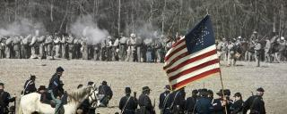 Civil War battle re-enactors at the Battle of Bentonville's 145th anniversary event