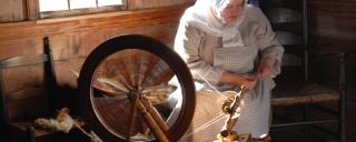 Spinning Thread at the President James K. Polk Historic Site Near Charlotte