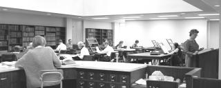 The State Archives Search Room in 1969