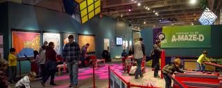 Mazes and Brain Games exhibit
