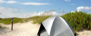 Camping at Hammocks Beach State Park