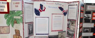 National History Day exhibits at the 2016 North Carolina contest