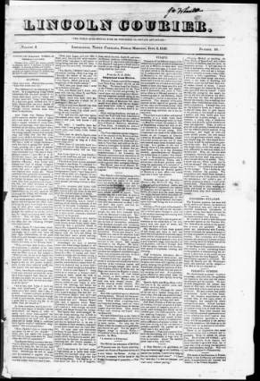 A Lincolnton newspaper from the period. Image from the Gaston County Public Library.