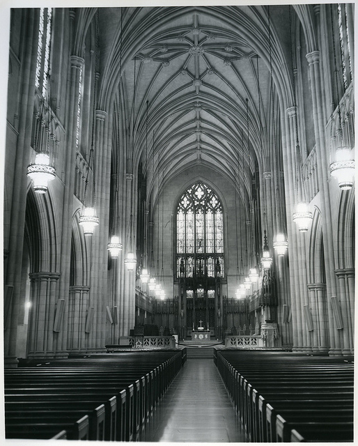 The interior of the chapel. Image from the Duke University Archives.