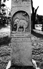 John King's grave marker in Charlotte. Image from the University of Cincinnati.