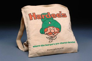 A 1972 Hardee's tote bag. Image from the N.C. Museum of History.