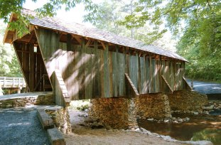 The bridge in 2004, after its renovation was complete. Image from the State Historic Preservation Office