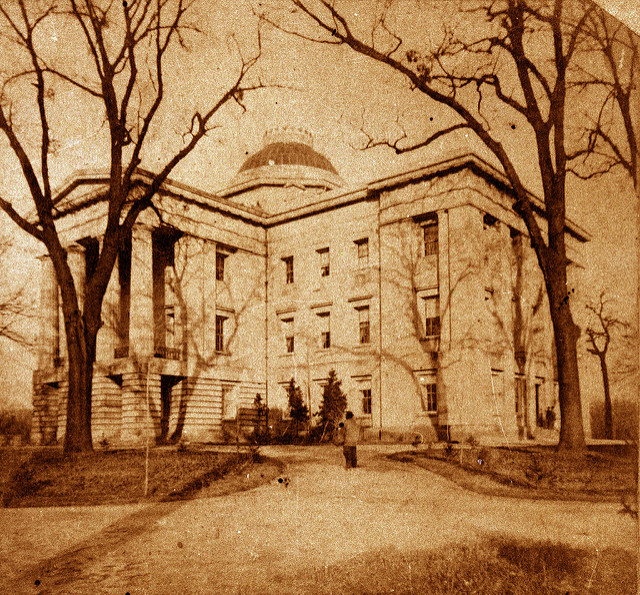 The Capitol circa 1861. Image from the State Archives