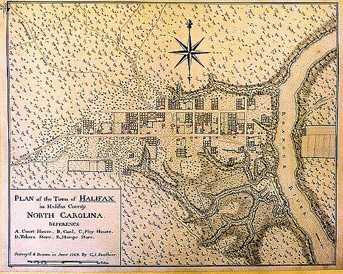The plan for the town of Halifax, now held by the State Archives