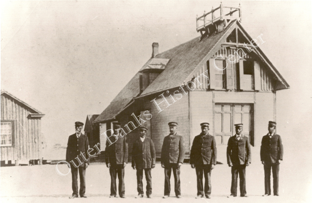 Richard Etheridge and his Pea Island Lifesavers, circa 1890. Image from the Outer Banks History Center.