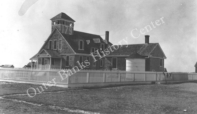 The Chicamacomico Lifesaving Station in 1934. Image from the  Outer Banks History Center