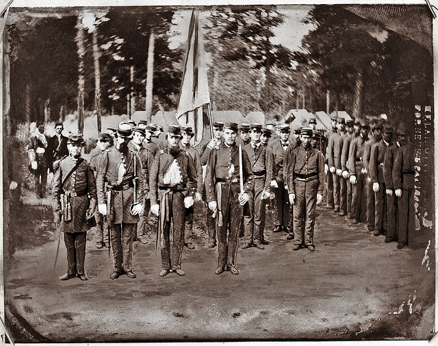 The Confederate Grays, Comapny E of 20the Regiment, North Carolina Troops. (Not actually a Home Guard unit). Image from the State Archives