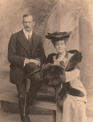 """Glory"" Hancock with her husband. Image from Northeastern North Carolina Stories."