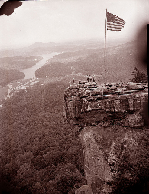 Chimney Rock in the 1940s. Image from the State Archives