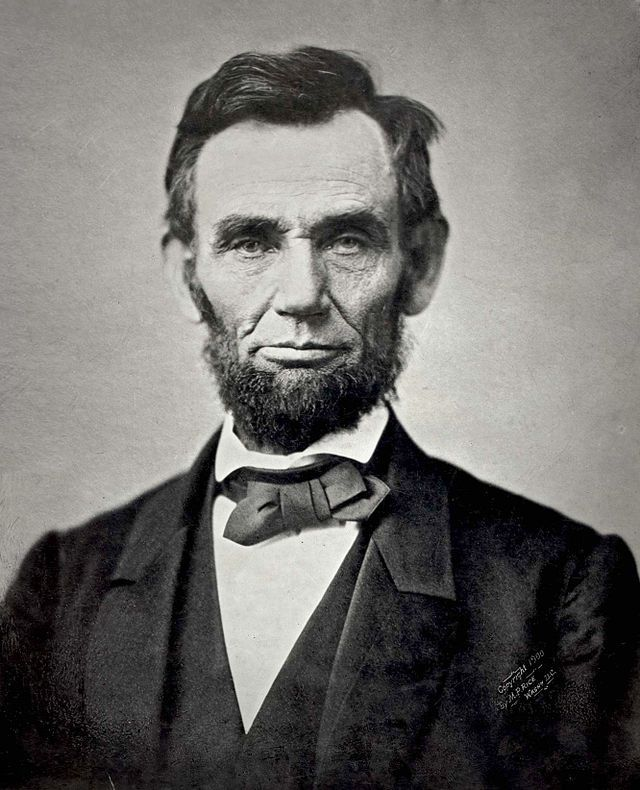 Abraham Lincoln in 1863. Image from the National Archives.