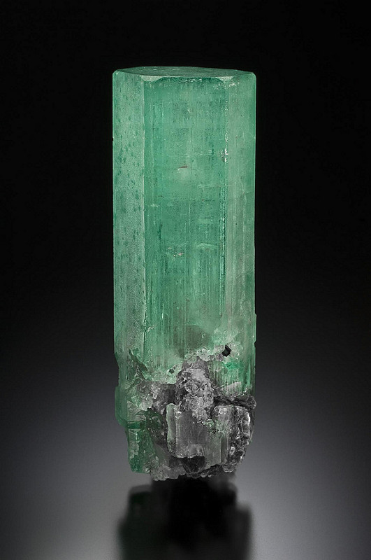 A nearly 700-carat emerald that was found in March 2011 in Alexander County and is now in the collection of the N.C. Museum of Natural Sciences