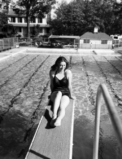 "An image believed to be taken at the ""Cool Pool"" in 1939"