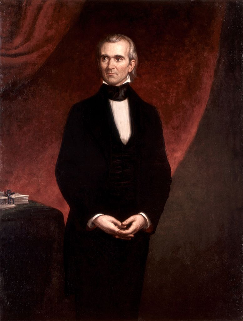 An 1858 portrait of Polk. Image from the White House Historical Association.