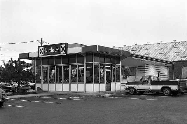 The first Hardee's franchise in Rocky Mount, shown here in the 1980s. Image from the State Archives.